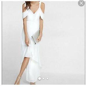 Brand new express cold shoulder maxi dress.